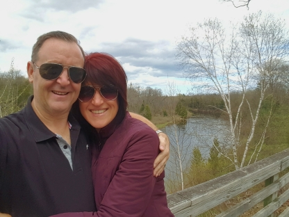 Us at the Au Sable River