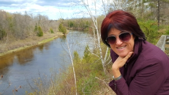 Leanne at Au Sable river