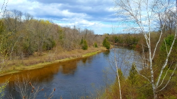 Bend in the Au Sable River