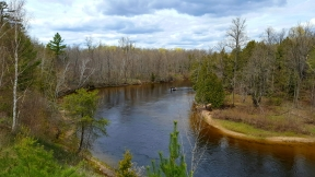 Au Sable river bend