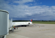 Our plane back to Atlanta